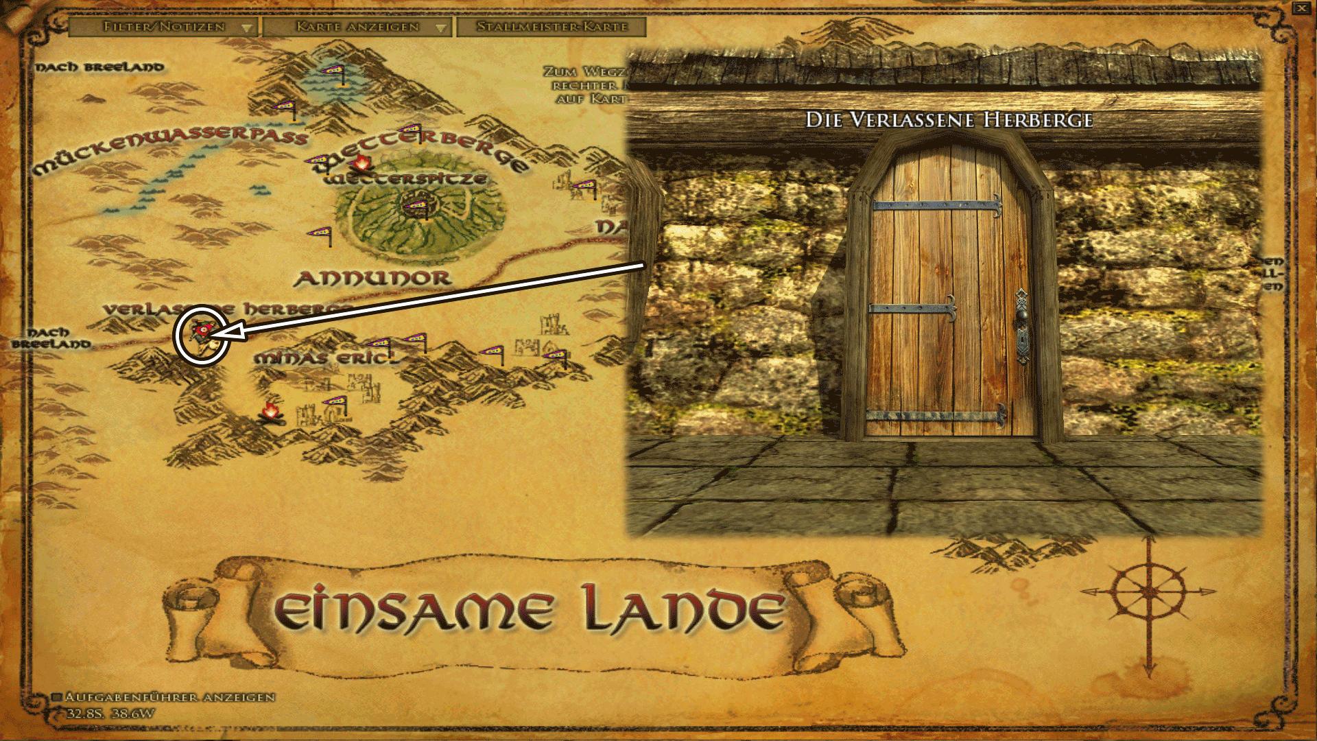 Gasthaus Verlassene Herberge - Karte anklicken zum vergrößern