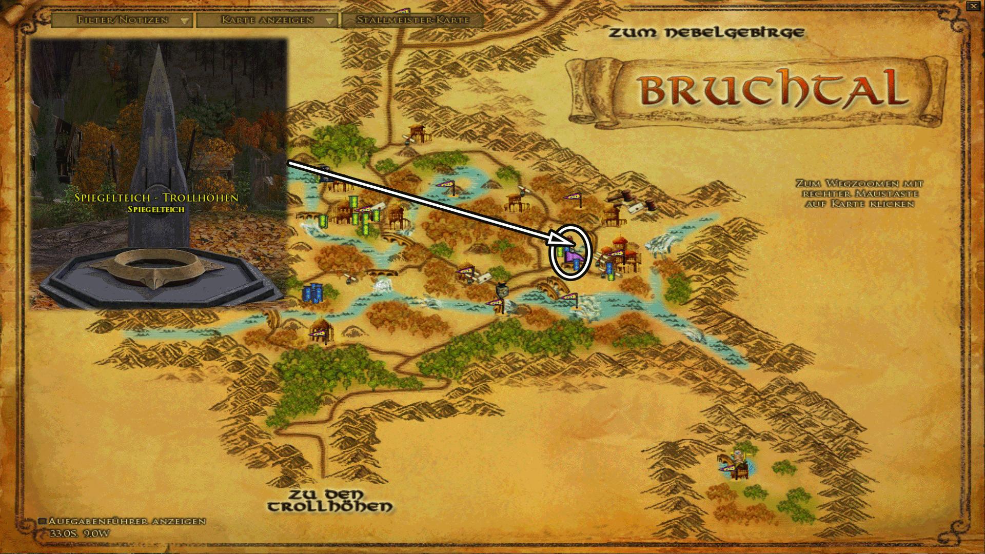 Spiegelteich in Bruchtal - Karte anklicken zum vergrößern