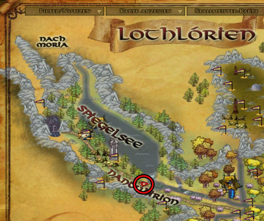 Position in Lorien